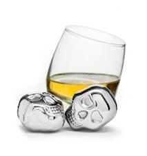 Club Dödskalle iskuber rostfritt stål 2-pack