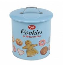 Kakeboks Biscuit Barrell Blå