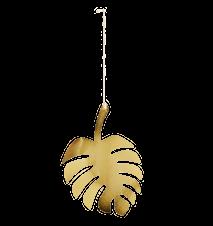 Hängande Löv Guld Small