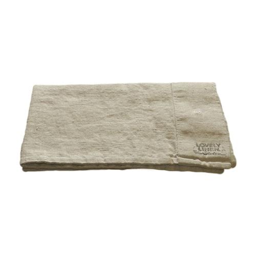 Lovely linen putetrekk – Light grey, 40x80