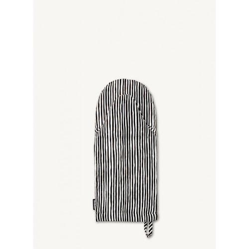 Varvunraita grytevante - Hvit, svart