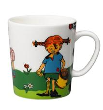 Pippi Långstrump mugg 30 cl Sakletare