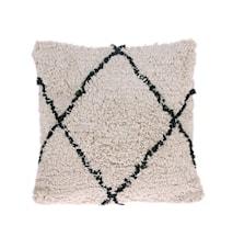 Tyyny Puuvillaa Valkoinen/Musta 50x50 cm