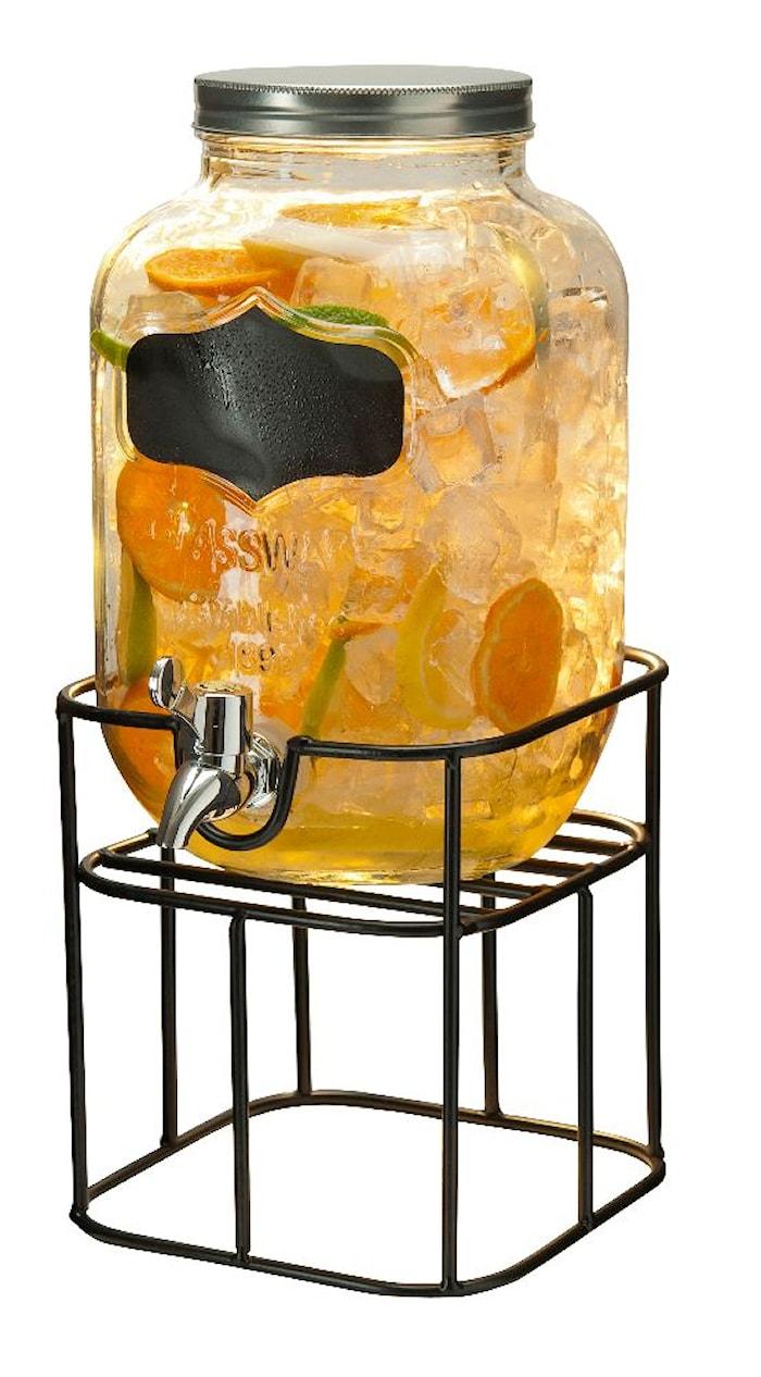 Drikkedispenser med stativ og tappekran 4 L