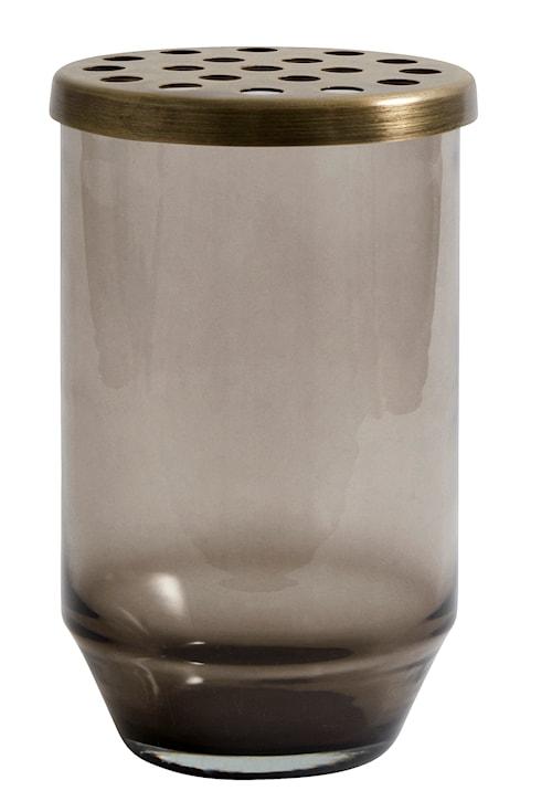 Glasvas metallock 15 cm - Grå