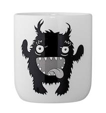 Monster Krukke Svart Keramikk 10x11cm
