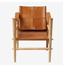 Noble leather loungestol