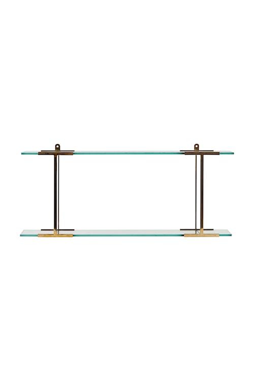 Pure hylla 60 cm - Mässing/glas