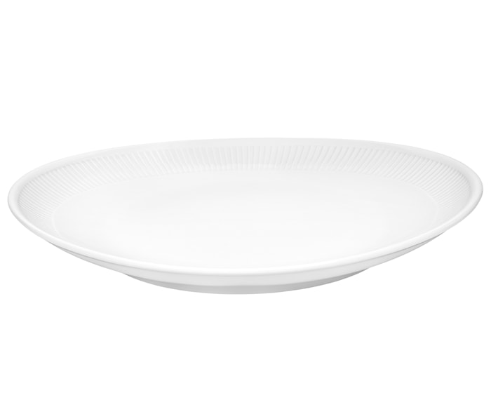 Plissé Oval Pihvilautanen 29,5 cm valkoinen