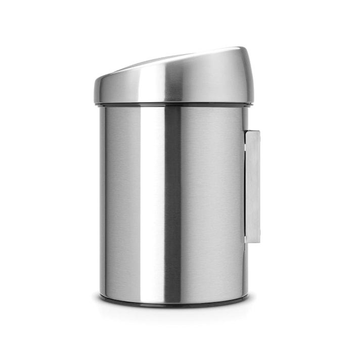 Touch Bin (för vägg), plastinnerhink 3 L Mattborstat Stål /F.P.P.