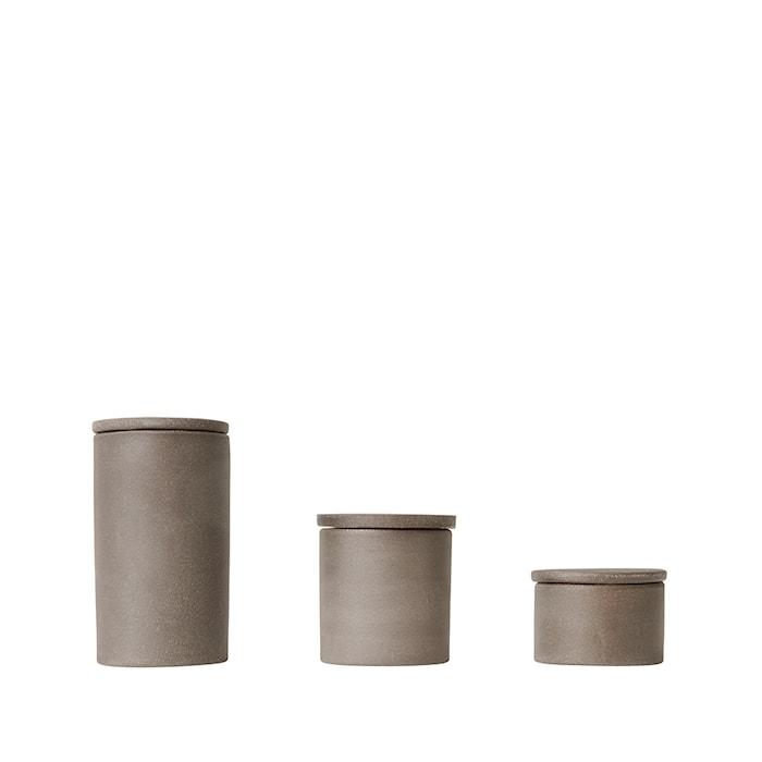 Cylinder förvaringsbox small set om 3