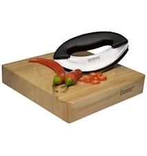 Ört- & Grönsakskärare med skålformad träplatta