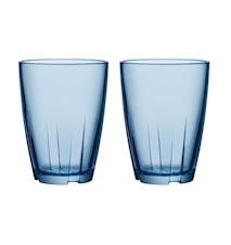 Bruk Blå Drikkeglass Stor 2-pakk