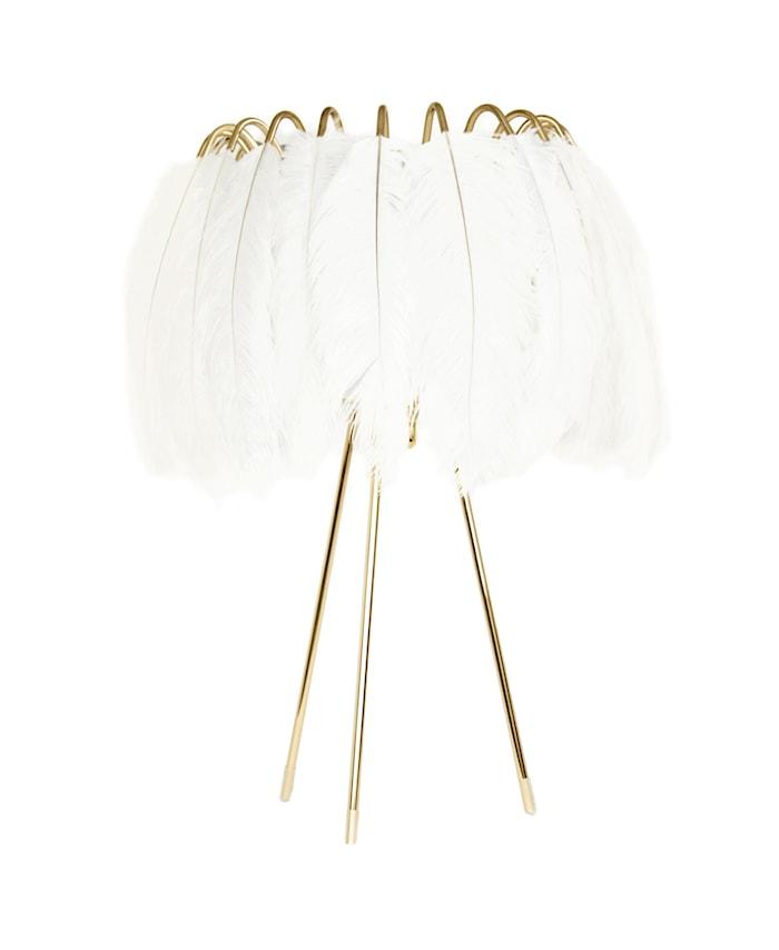 Feather bordslampa – White
