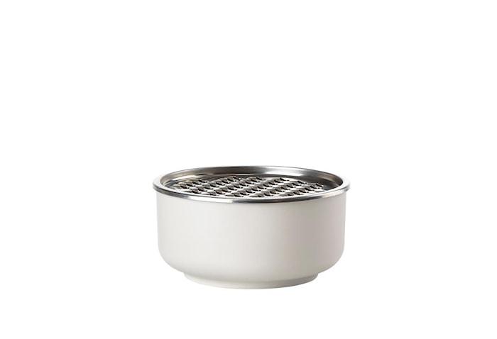 Skål - Warm Grey - m. rivejern - Stk. - Peili - Melamin - 18/8 stål - D 16,0cm - H 8,8cm - Gaveæske - 1,00l