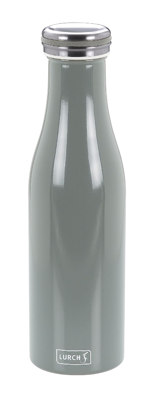 Termoflaska, Rostfritt stål, 0,5L, Grå