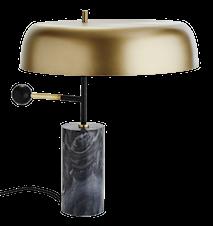Bordslampa Ø 40 cm - Matt mässing