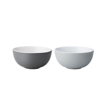 Emma skål, liten, 2 st - grå