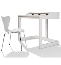 Plane Skrivebord - Hvid/Eg