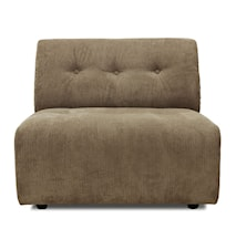 Vint Sofa: Element B, Corduroy rib, Brun