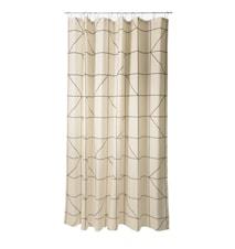 Dusjforheng - Sand - Stk. - Lines - Polyester - 80 g - L 200,0cm - B 180,0cm -