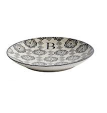 LETTER plate, B, black