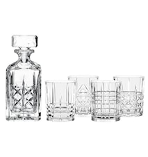 Highland Whiskeykaraffel og 4 stk glass