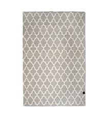 Trellis teppe grå/hvit