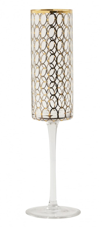 Champagneglas Gold pattern 26cm