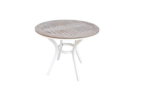 Alfa Trädgårdsbord ø90 cm - Vit