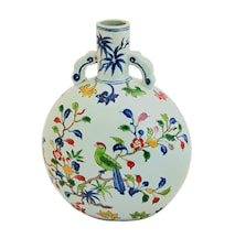 Flaska Ming dynastin Blommor & Fåglar 28cm