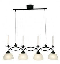 Florense taklampe med 4 kupler.