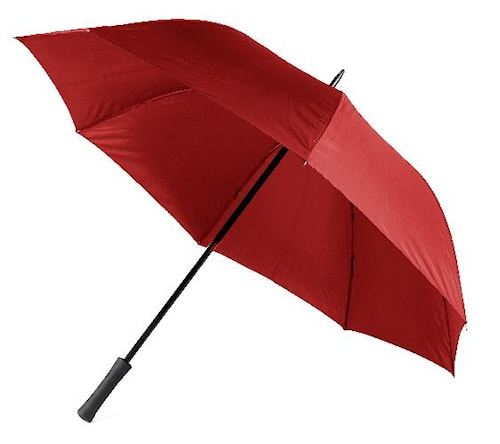 Paraply m gummihandtag, röd