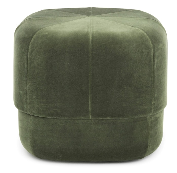 Circus pouf sittepuff velour small - Dark green