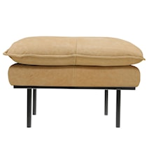 Retro Sofa Læder Hocker Beige