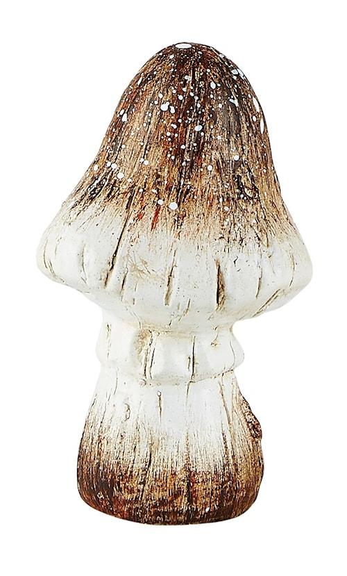 Figur - Svamp - Keramik - Natur - D 8,0cm - H 10,0cm - Stk.