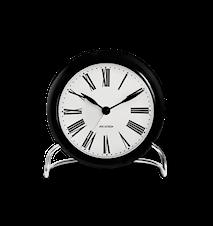 Arne Jacobsen Roman bordsur, svart/hvit, Ø 11 cm, alarmfunksjon