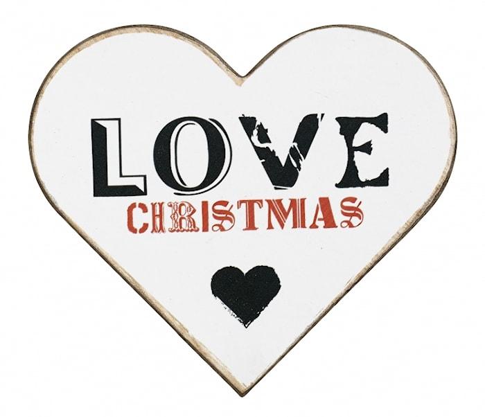 WOOD Hjärta Julkort Love