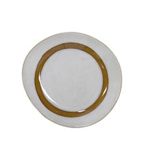70's Keramik Assietter Hvid