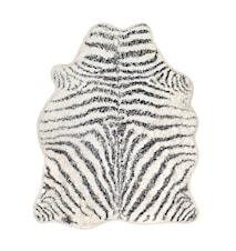 Baderomsmatte Zebra Svart/Hvit 85x100 cm