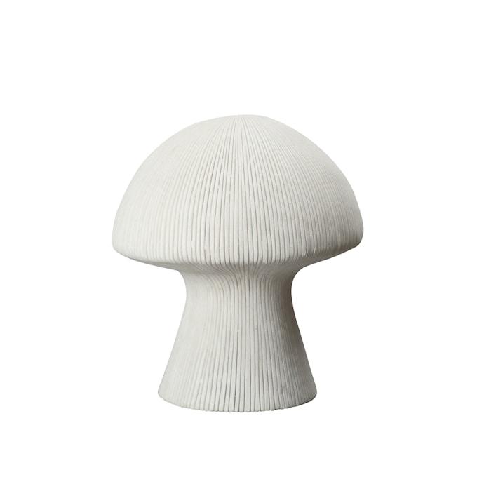 Pöytävalaisin Mushroom valkoinen