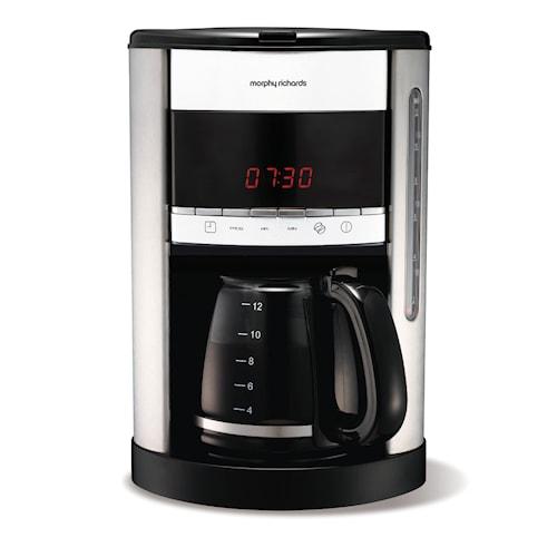 Kaffebryggare med Timer, 12 koppar, Vit