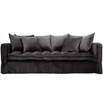 Greenwich 3-sits soffa - Sammet Grå