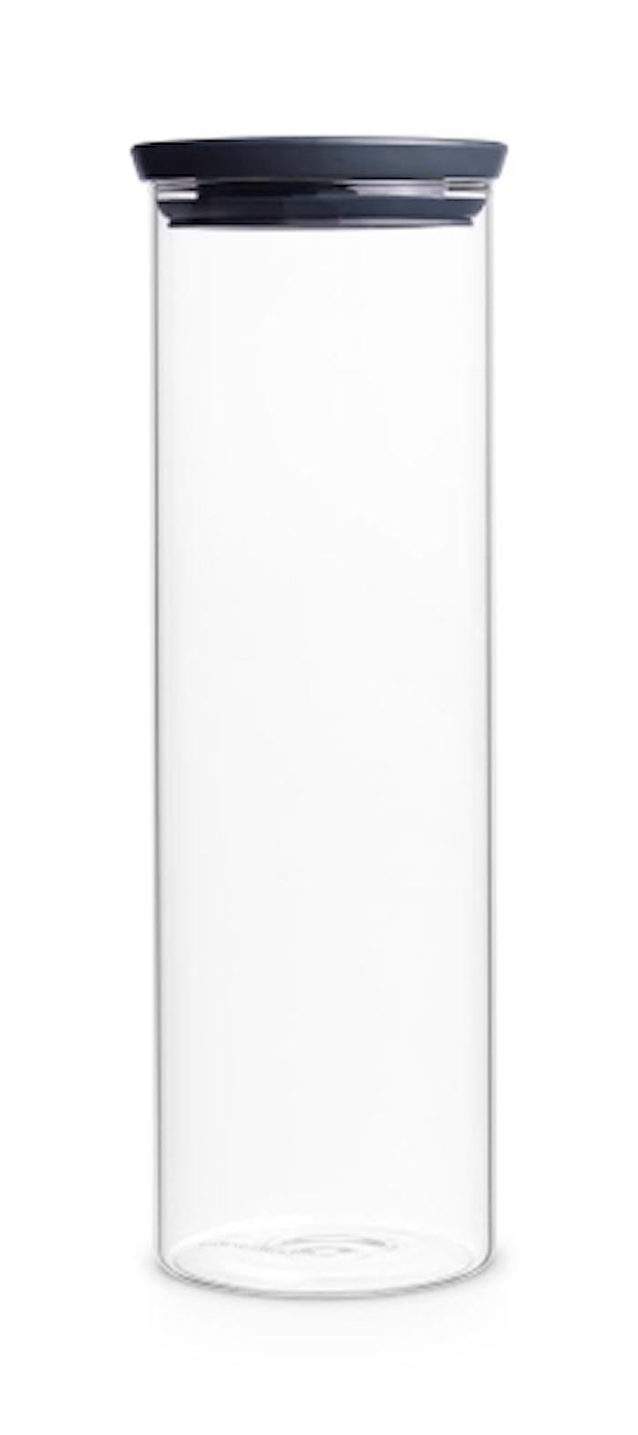 Glasskrukke 1,9 L Glass/Grått lokk