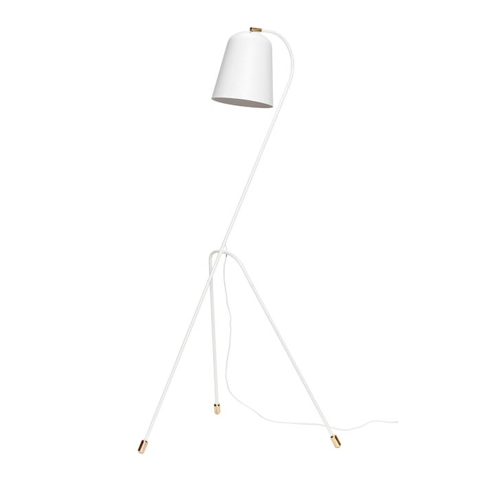 Gulvlampe 55xh156 cm - Hvit/messing