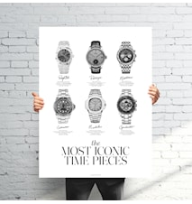 The most iconic time pieces poster