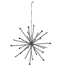 Metal star, black, large, hanging