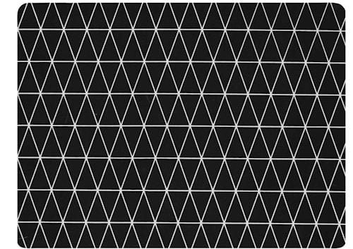Dækkeserviet - Gummi - Sort - H 0,5cm - L 40,0cm - B 30,0cm