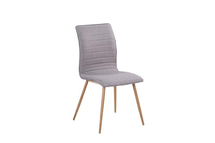 Robin Stol Grå textil/eik 2-pakk