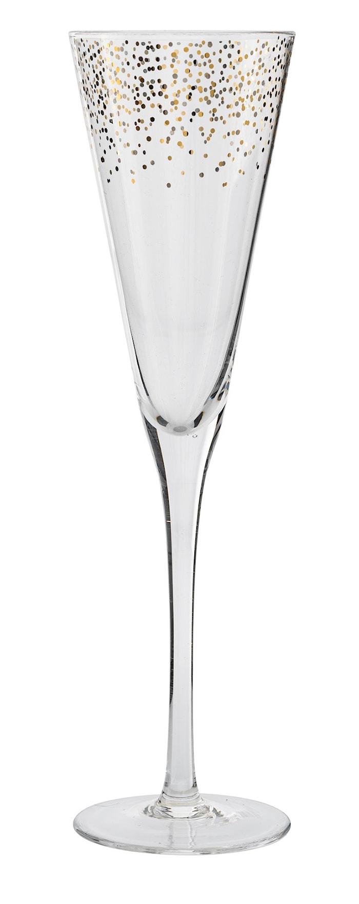 Champagneglas Dots Klar